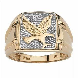 NEW•Men's 18kt 750 GF Eagle Ring sz 8